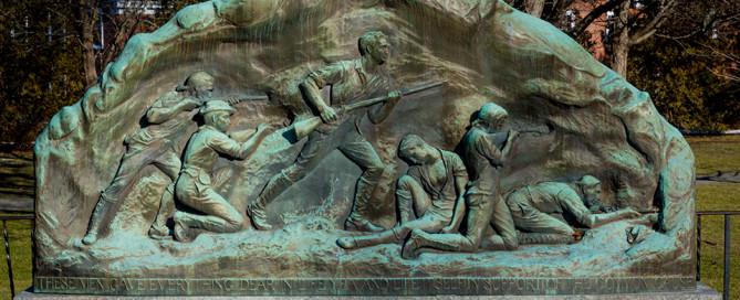 Memorial to the Lexington Minuteman Marker