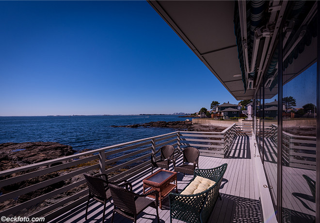 House on the Water Front, Sea Side Deck, Nahant, MA