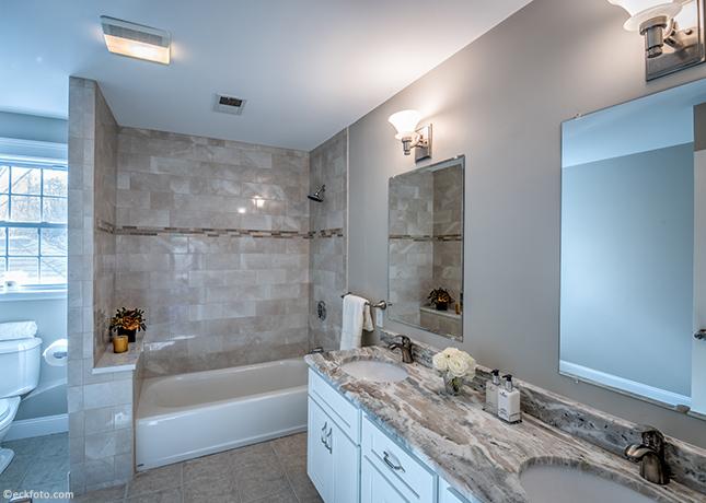 EckFoto Real Estate Photography, Bathroom at 334 Concord Avenue, Lexington, MA