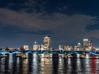 EckFoto Night Photography Long Fellow Bridge 2236
