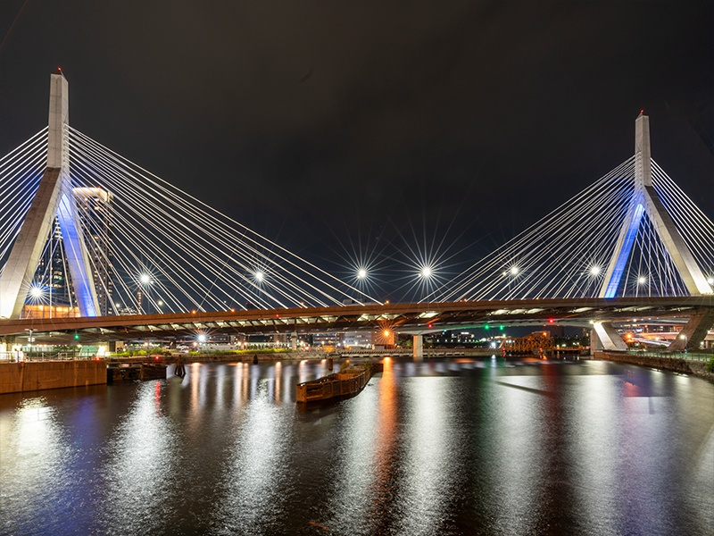 EckFoto Night Photography Zakim_Bridge Boston MA 2221